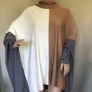 Alfani Tunic Poncho Tri color XL